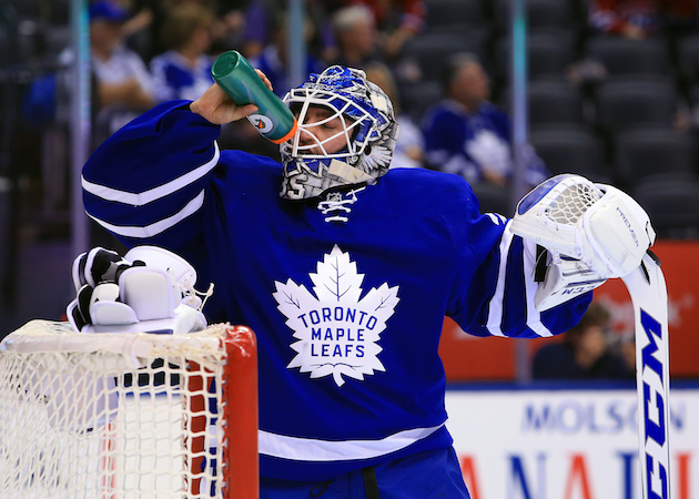 Maple Leafs in search of new backup after waiving Jhonas Enroth