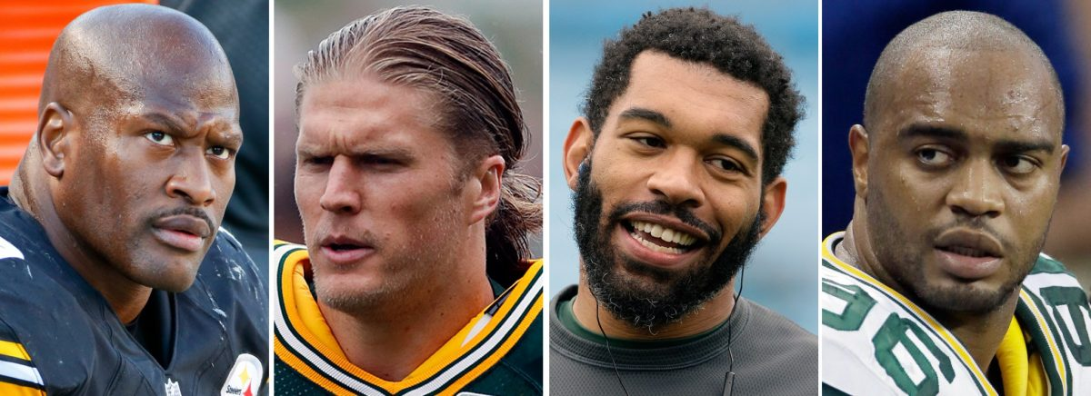James Harrison, Clay Matthews, Julius Peppers, Mike Neal (AP)