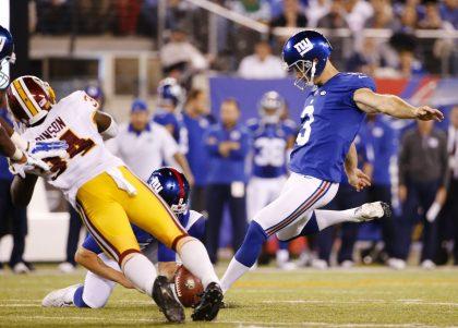 Giants kicker Josh Brown will miss the season opener against the Cowboys. (AP)