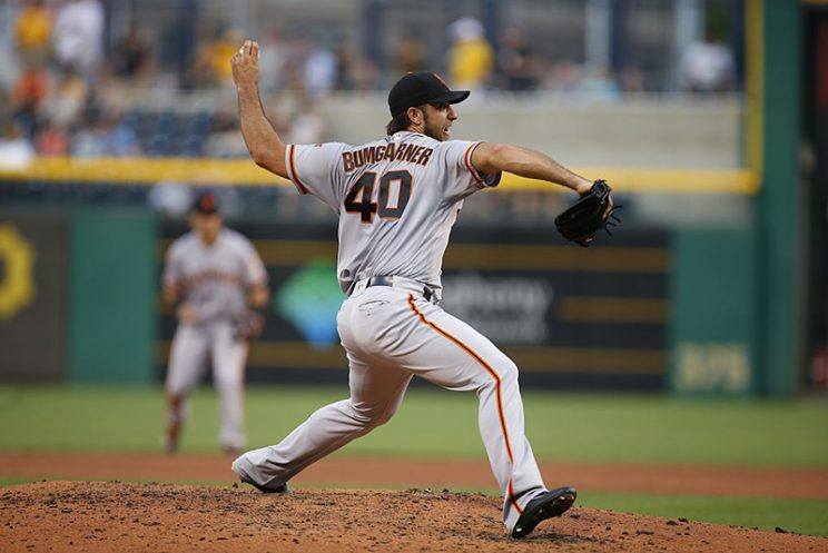 Madison Bumgarner nearly tosses no-hitter against D-backs