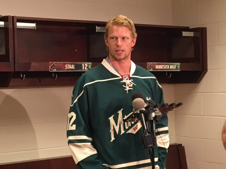 Eric Staal on scoring struggles, pay cuts and Bruce Boudreau (P…
