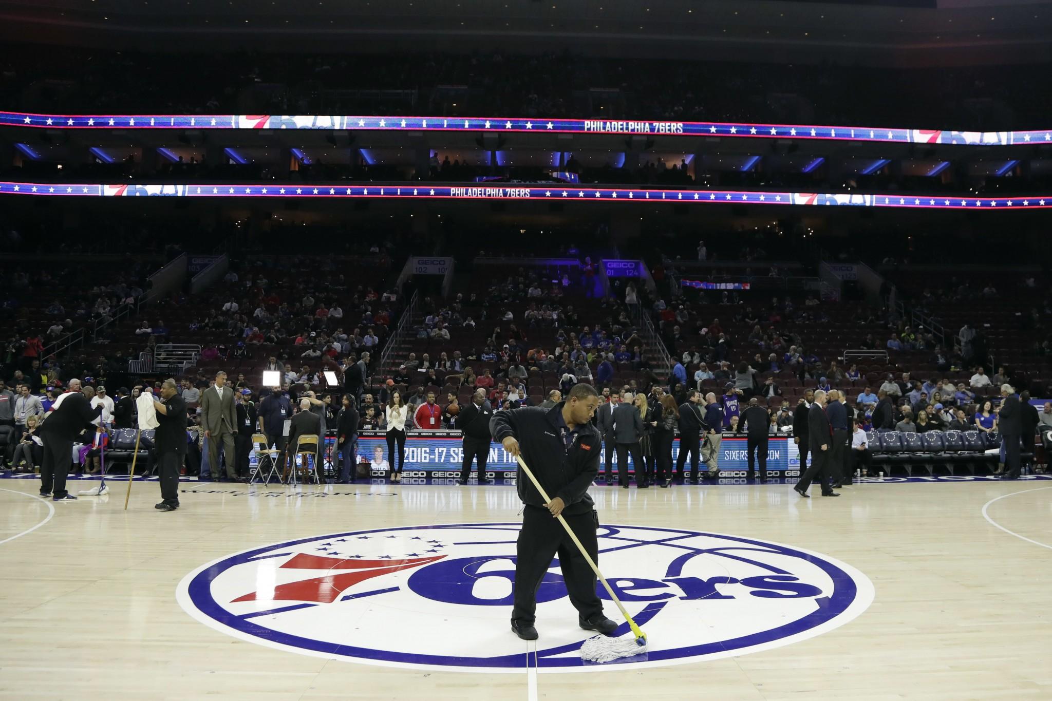 76ers-Kings postponed due to slick, slippery floor in Philly