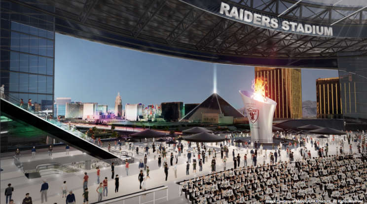 Raiders apply for 'Las Vegas Raiders' trademark; stadium render…