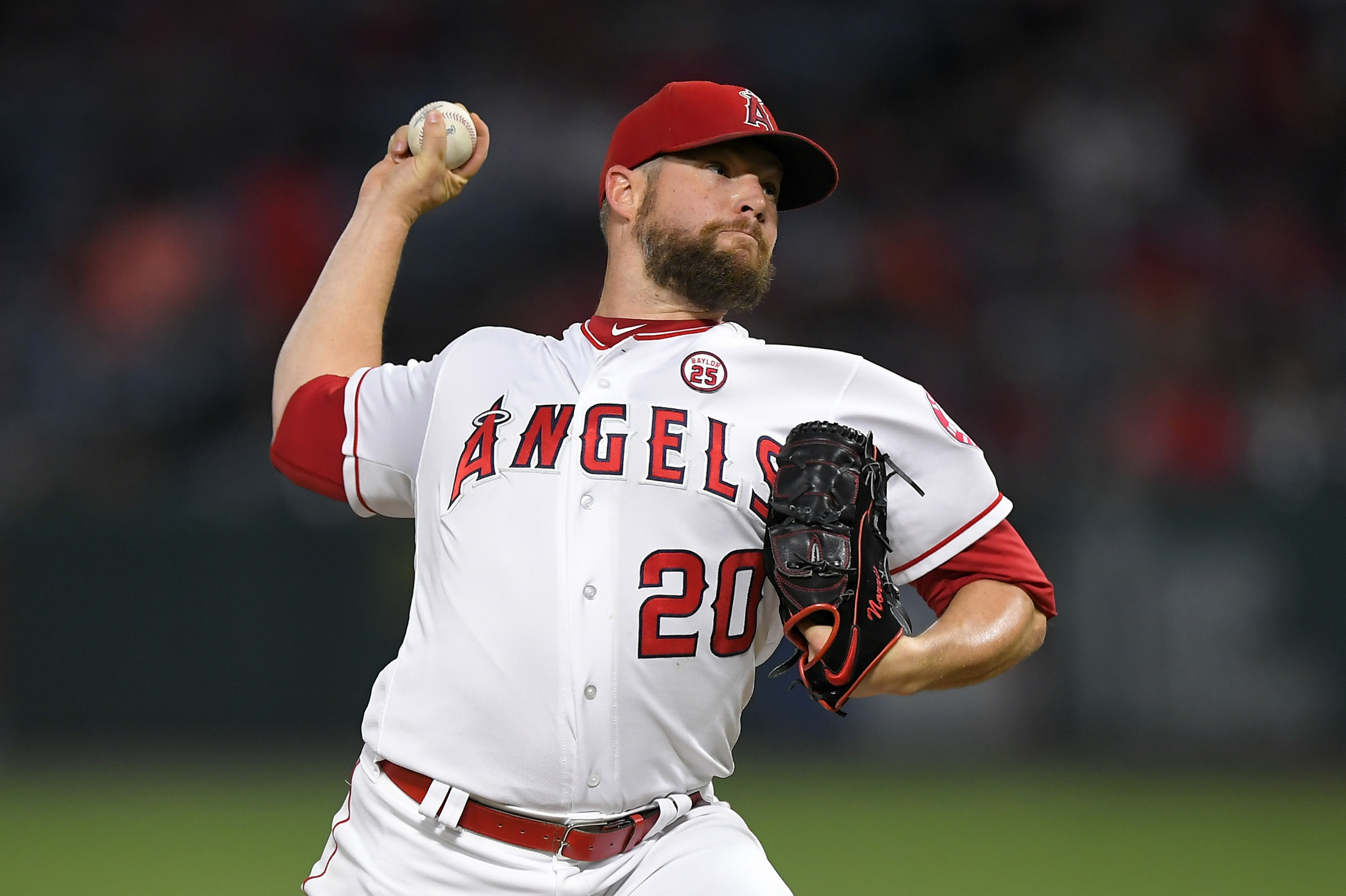 After making a surprise, Angels pitcher Bud Norris could miss out on a $500,000 bonus for relief appearances. (AP)