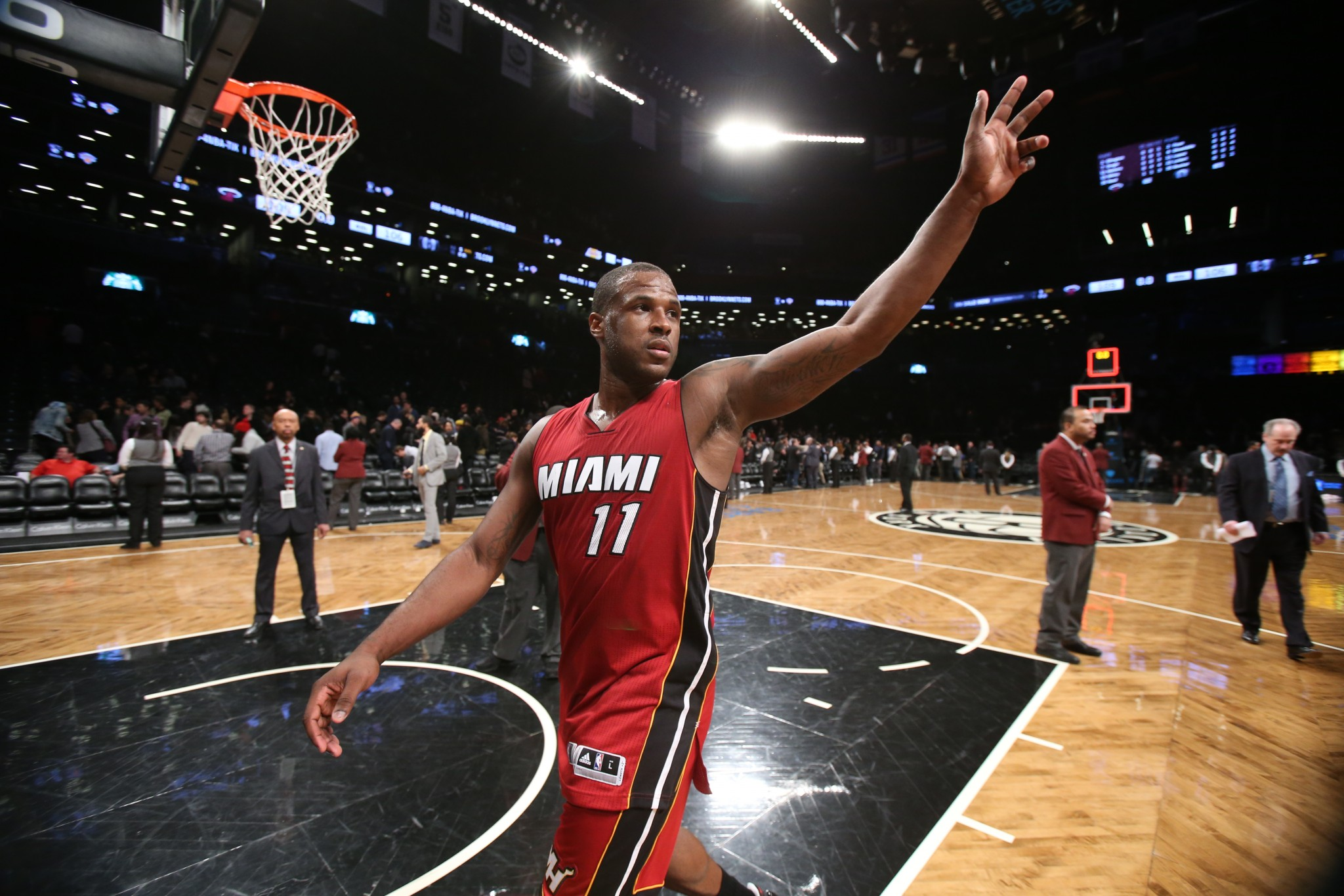 62230f03c93 Dion Waiters waves to his adoring fans. (Getty Images)