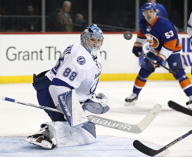 NHL Three Stars: Vasilevskiy stands tall as Lightning blank Isl…