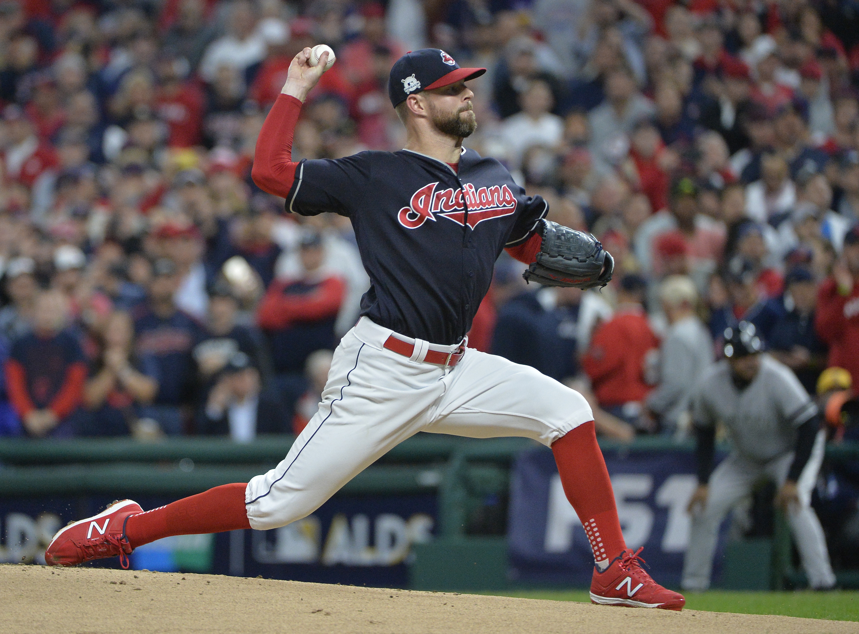 Corey Kluber's fantastic second half makes him a Cy Young favorite. (AP)