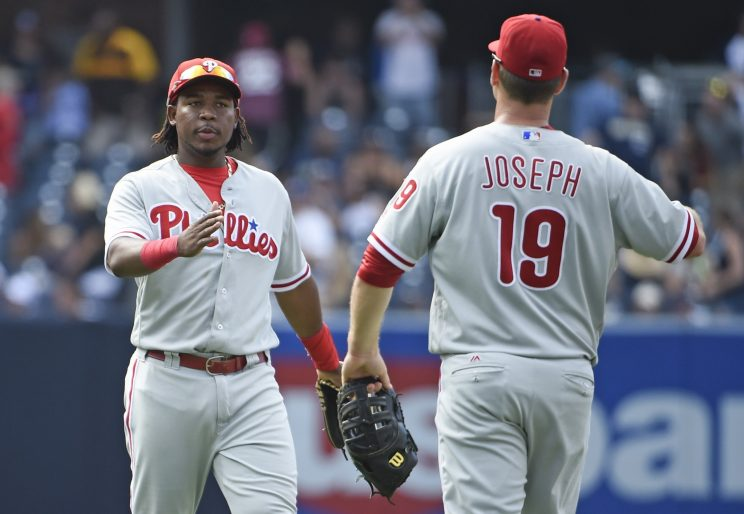 The Phillies pulled off a triple play Sunday. (Getty Images/Denis Poroy)