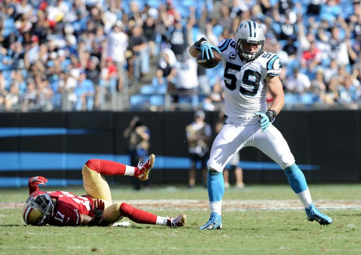 Luke Kuechly will miss his third straight game on Sunday