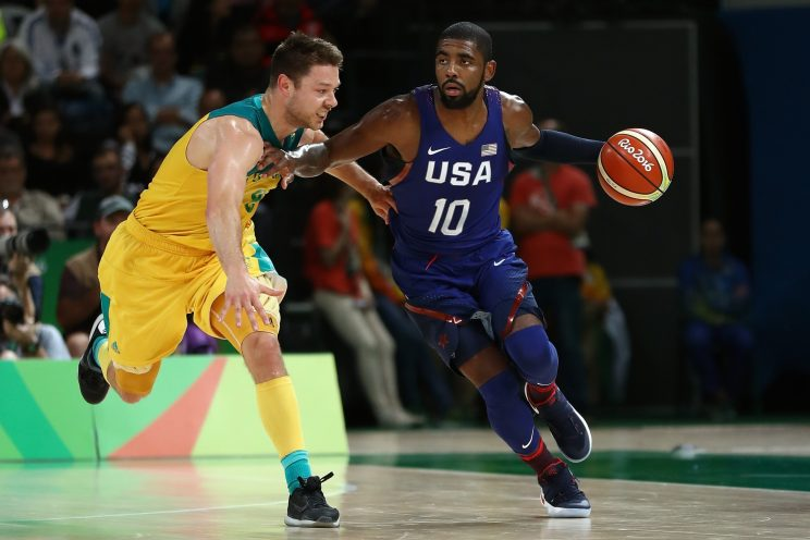 Kyrie Irving came up big Wednesday night, but this time his Cleveland teammate Matthew Dellavedova was on the losing end of his clutch performance. (Getty)