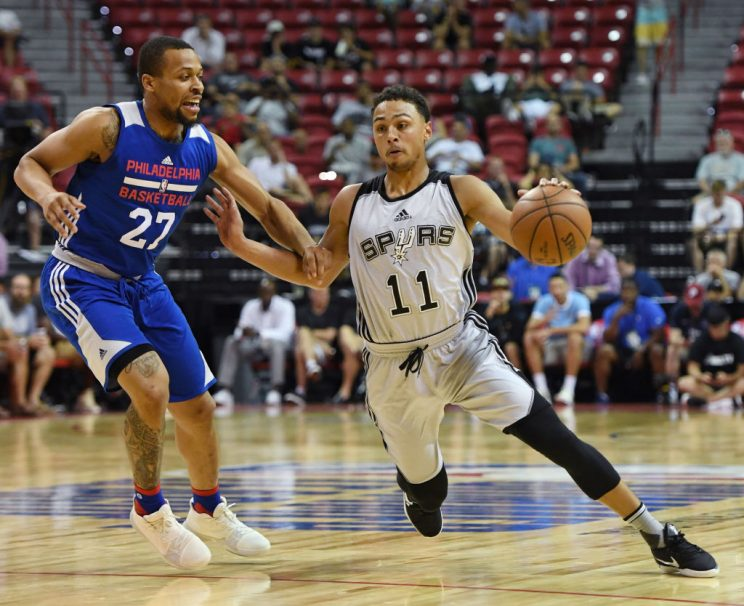 Bryn Forbes is leading the Las Vegas Summer League in scoring after doing the same in Utah last week. (Getty)