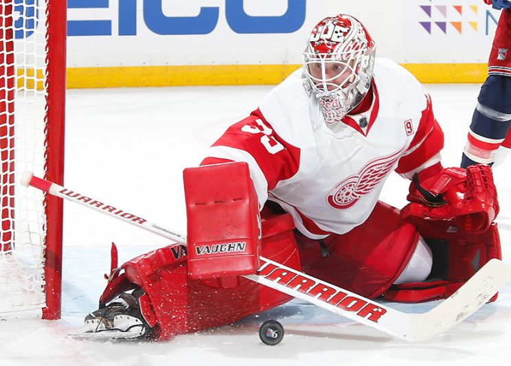 Jimmy Howard makes statement, but knows his place with Red Wing…