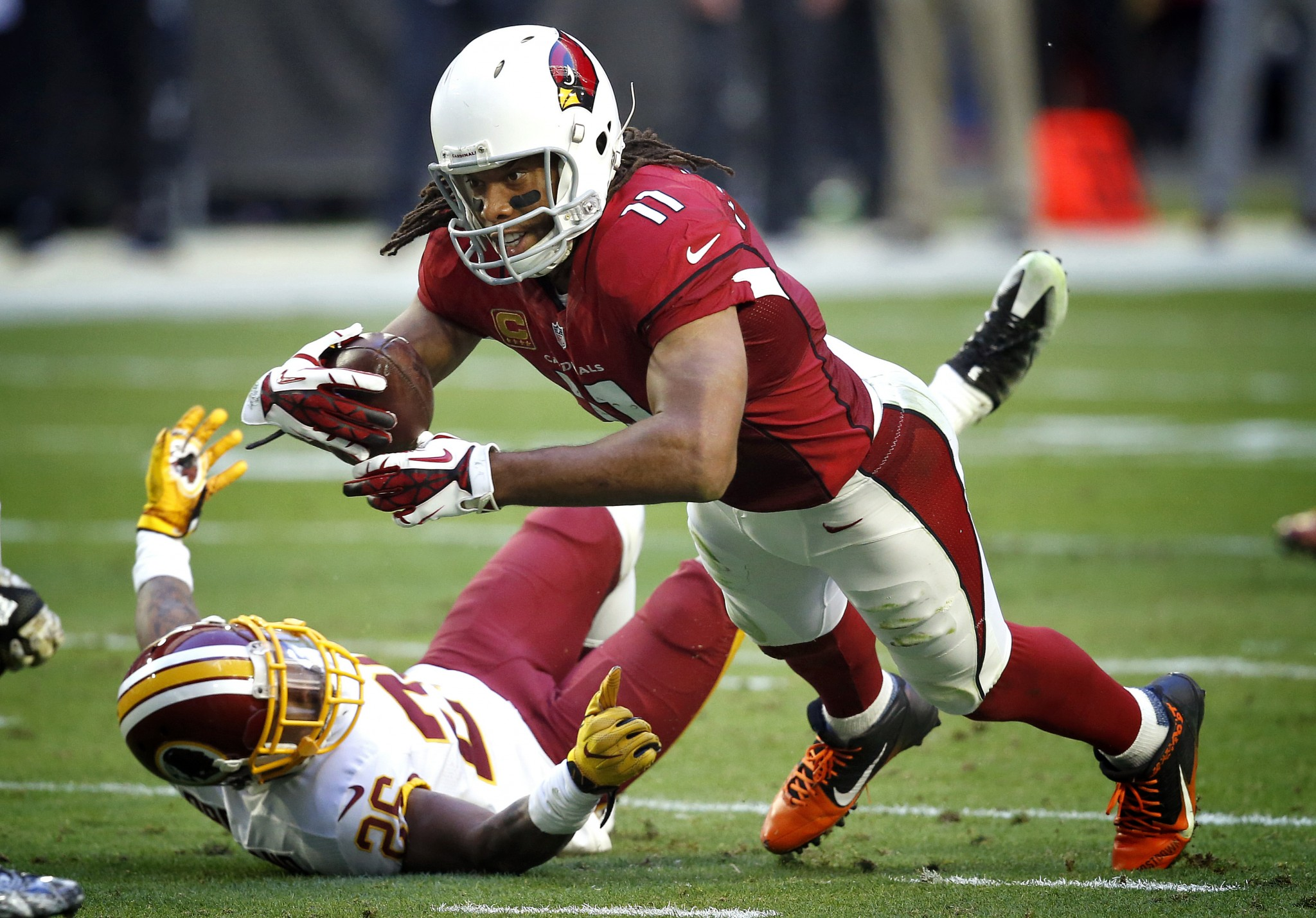 Larry Fitzgerald glad milestones came in a win