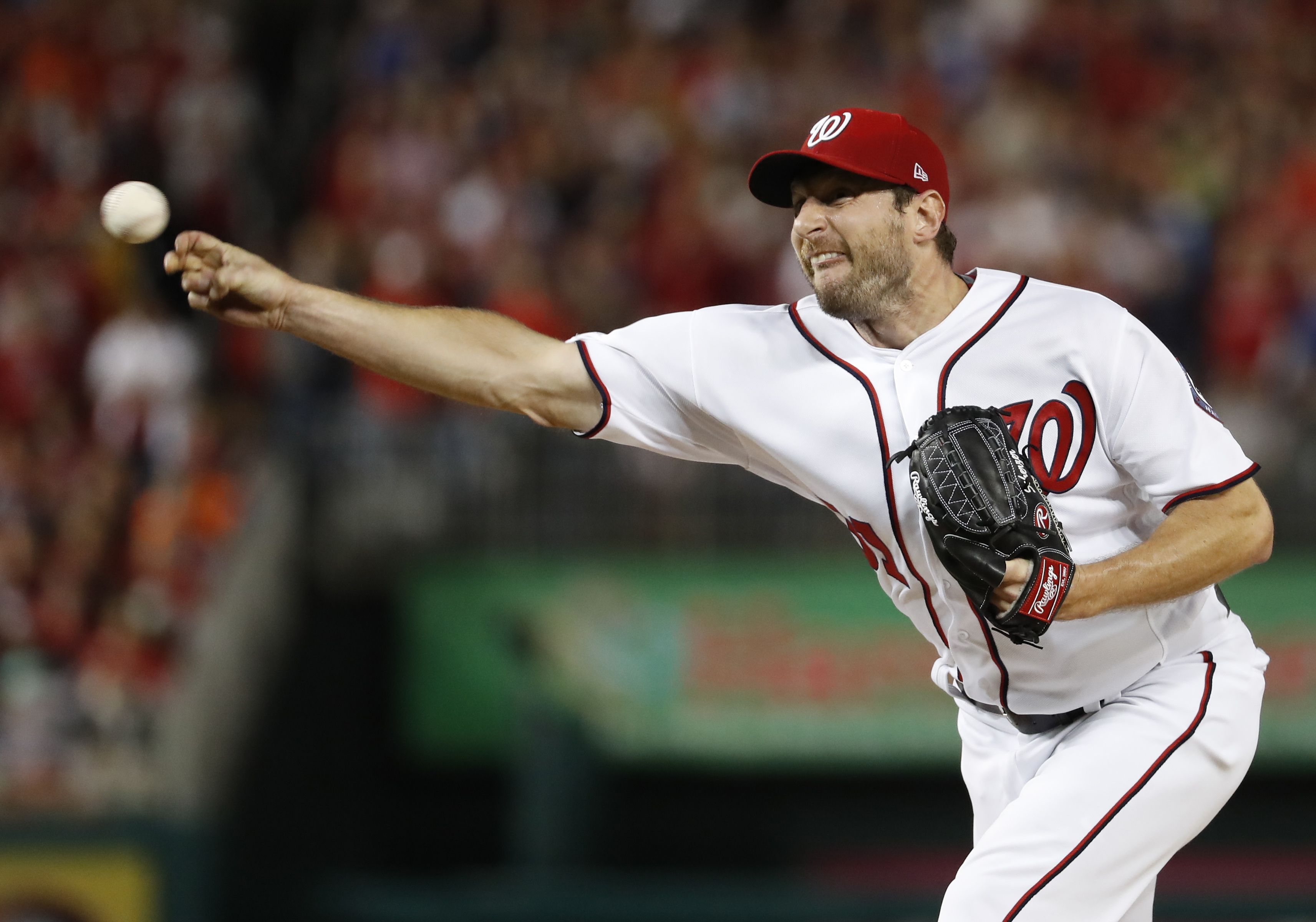 Max Scherzer is looking to win back-to-back Cy Young awards. (AP)