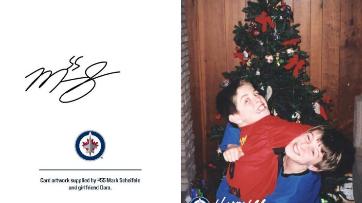 Adorable Winnipeg Jets holiday cards raising funds for autism