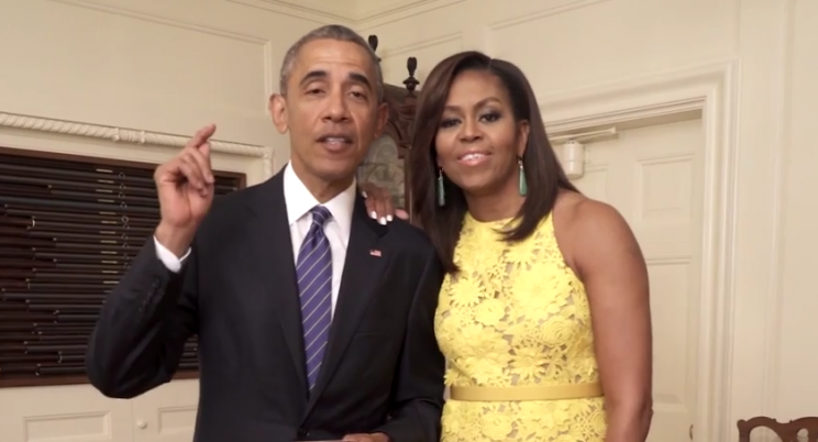 The president and the First Lady. (Via YouTube)