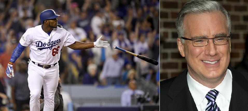 Yasiel Puig and bat flip critic Keith Olbermann make amends on Twitter