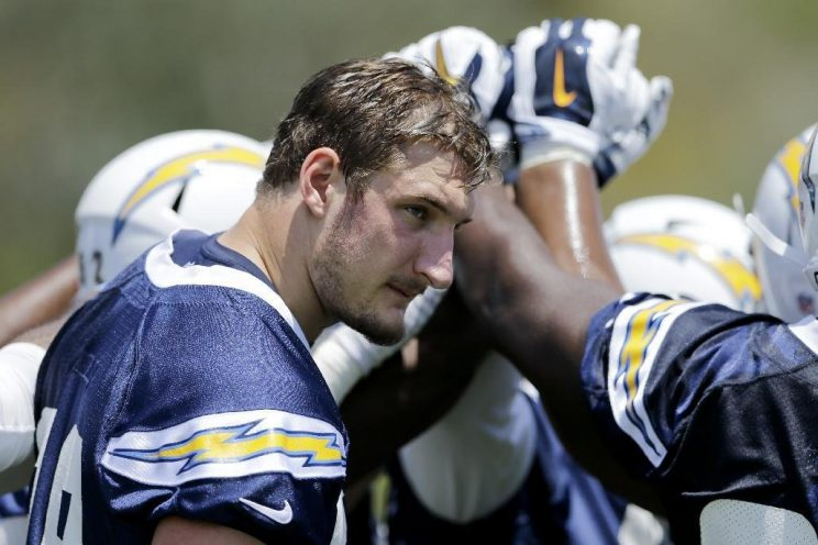 Joey Bosa, at a minicamp practice in June (AP)