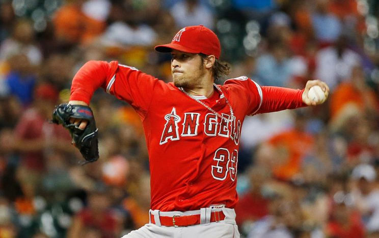The Angels paid C.J. Wilson $20 million and he didn't throw a p…