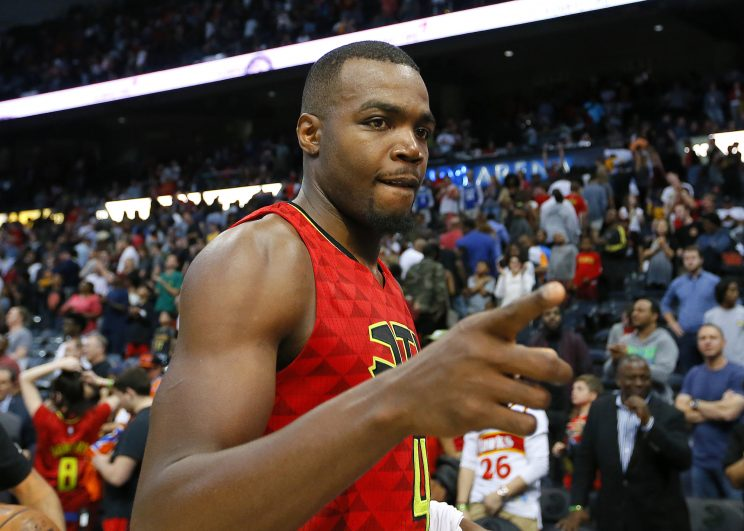 Is Paul Millsap pointing to the exit. (AP)