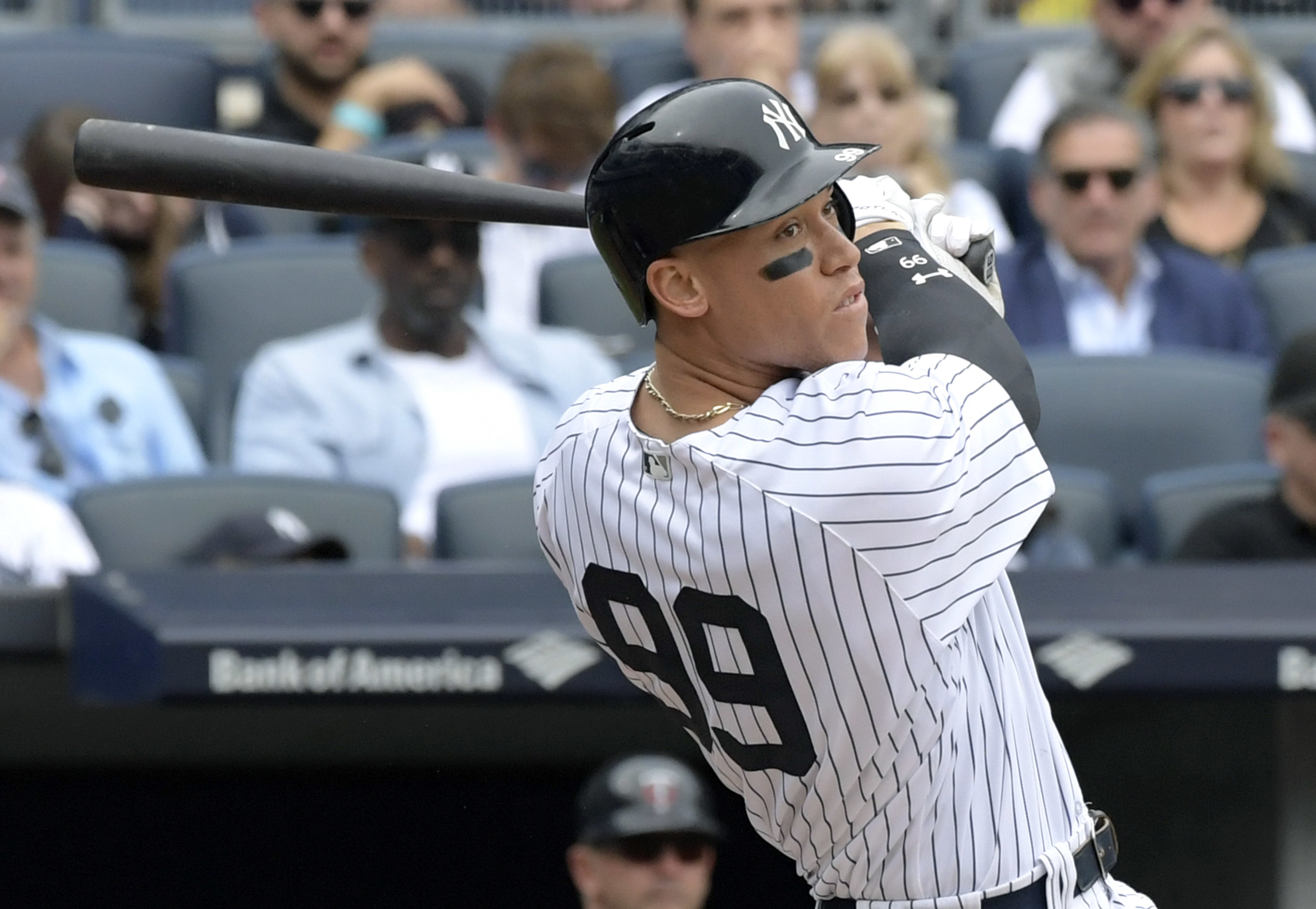 The work is just getting started for determined Yankees' slugger Aaron Judge. (AP)