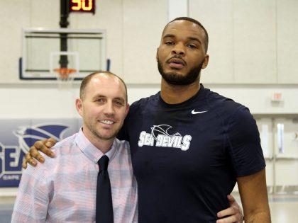 Ty Coger and Cape Fear coach Ryan Mantlo (via Cape Fear Community College)