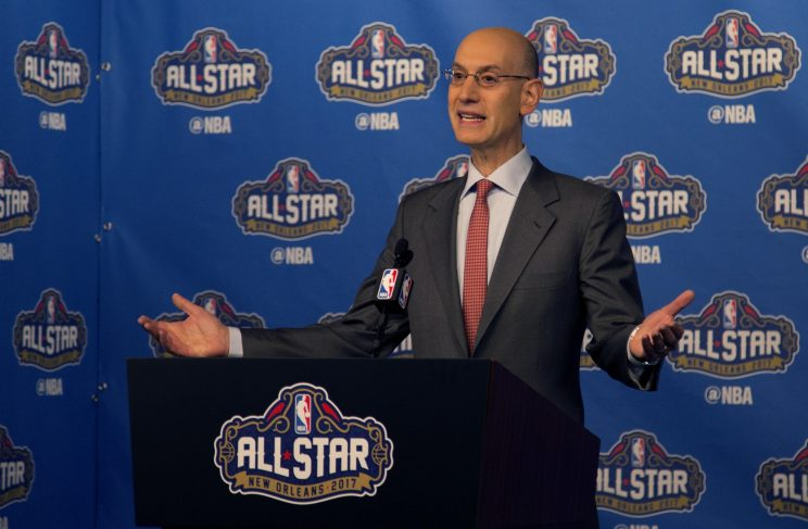NBA commissioner Adam Silver will allow the All-Star Game to return to Charlotte. (AP)