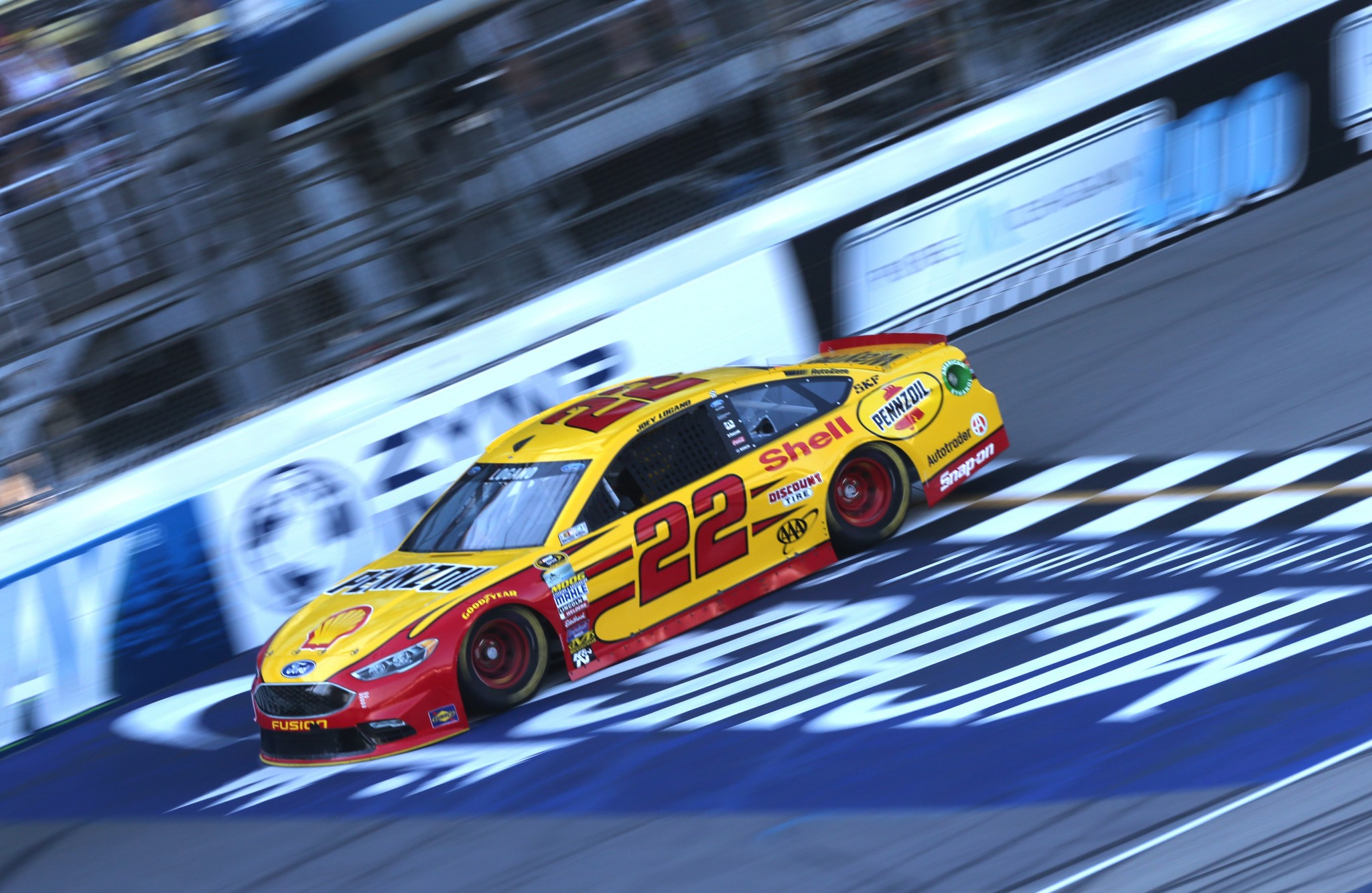 Joey Logano led 138 laps in winning at Michigan in June (Getty Images)
