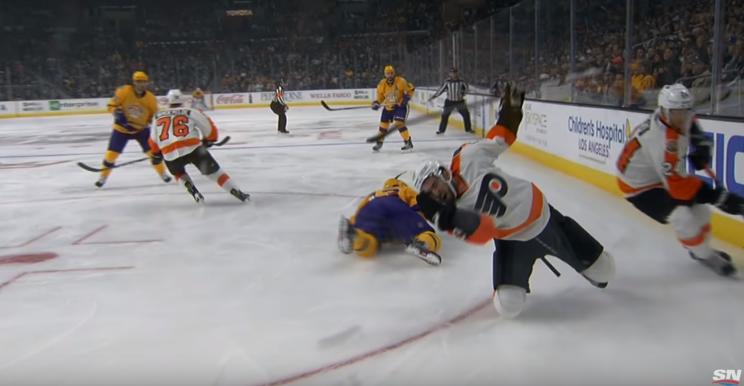 Shayne Gostisbehere thanks the Almighty for avoiding nasty skat…