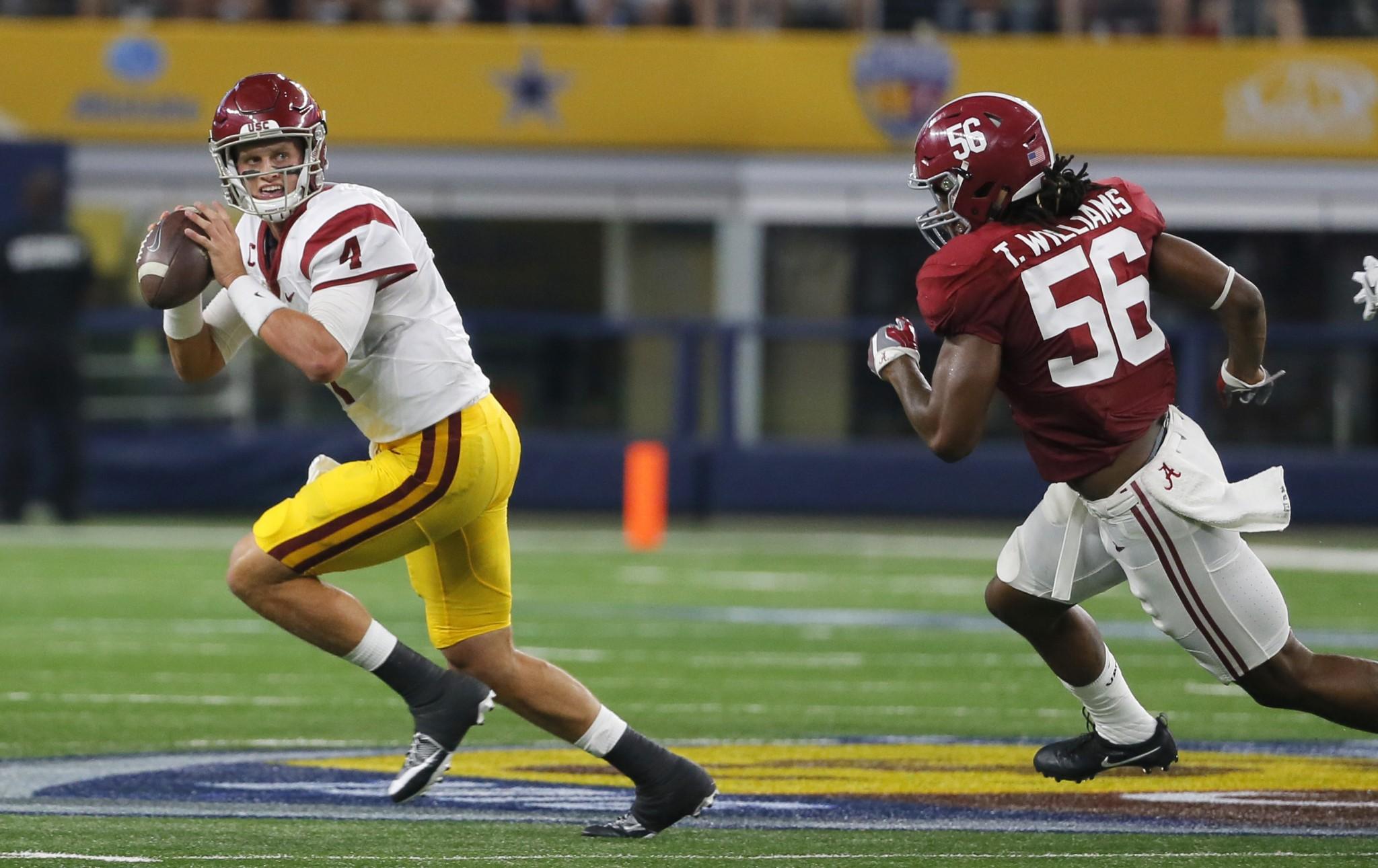 Alabama linebacker Tim Williams had 10.5 sacks in 2015. (AP Photo/Tony Gutierrez)