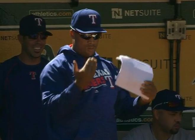 Adrian Beltre tries out for new role on rare off day
