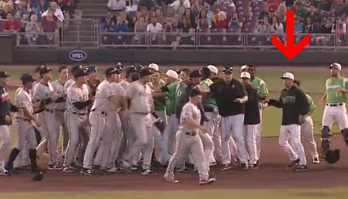 Here's the surprised reaction from one of the Dayton Dragons. (MILB)