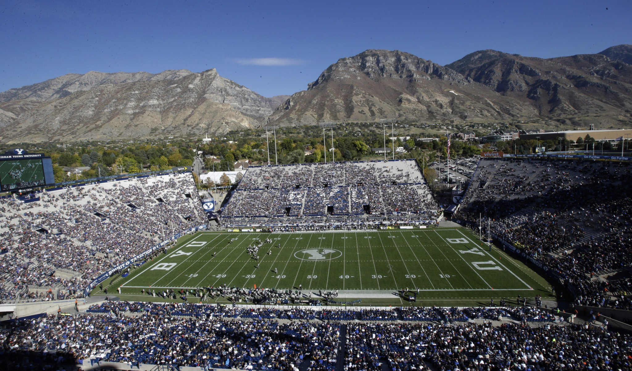 BYU is a school Big 12 coaches prefer if the league expands. (AP Photo/Rick Bowmer)