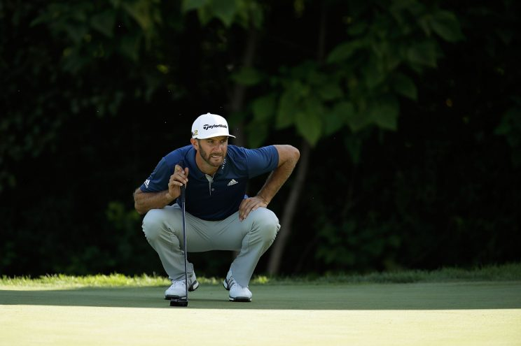 Dustin Johnson won the BMW Championship and leads the FedEx Cup standings. (Getty Images)