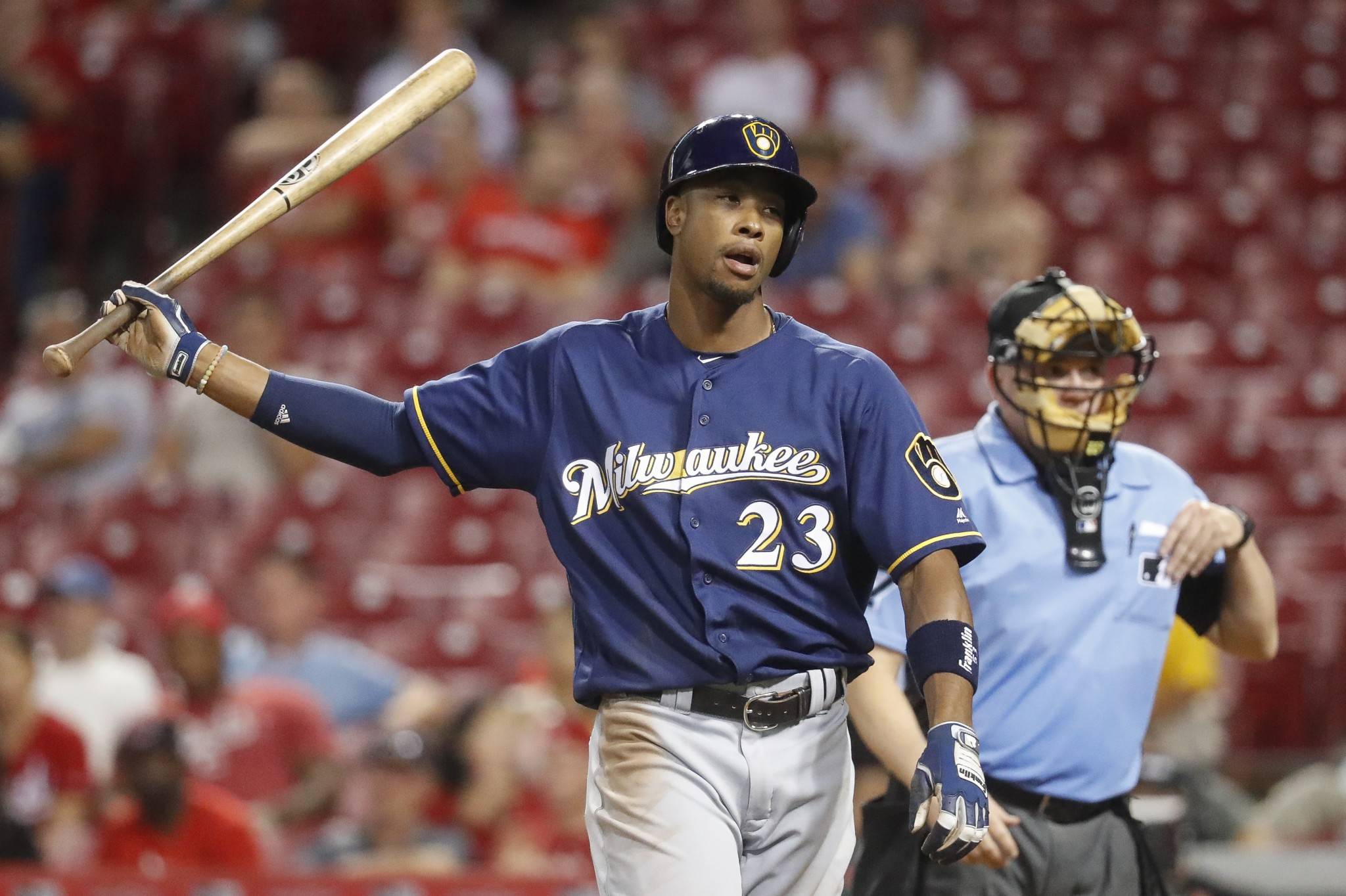 Brewers outfielder arrested after confrontation with police
