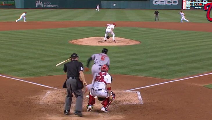 Max Scherzer executes a flawless behind-the-back through-the-legs catch.