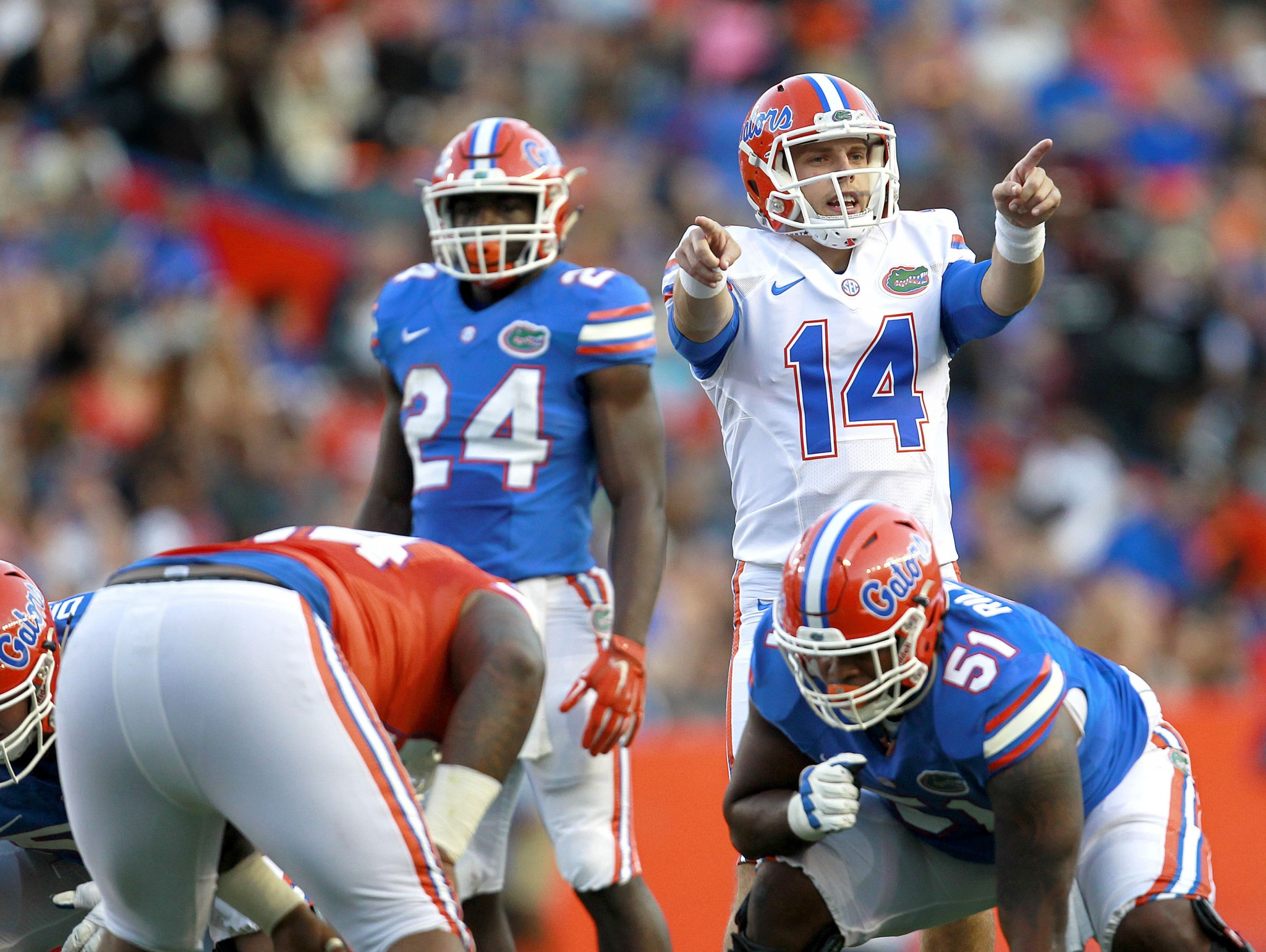 New Florida starting quarterback Luke Del Rio. (Matt Stamey/The Gainesville Sun via AP, File)