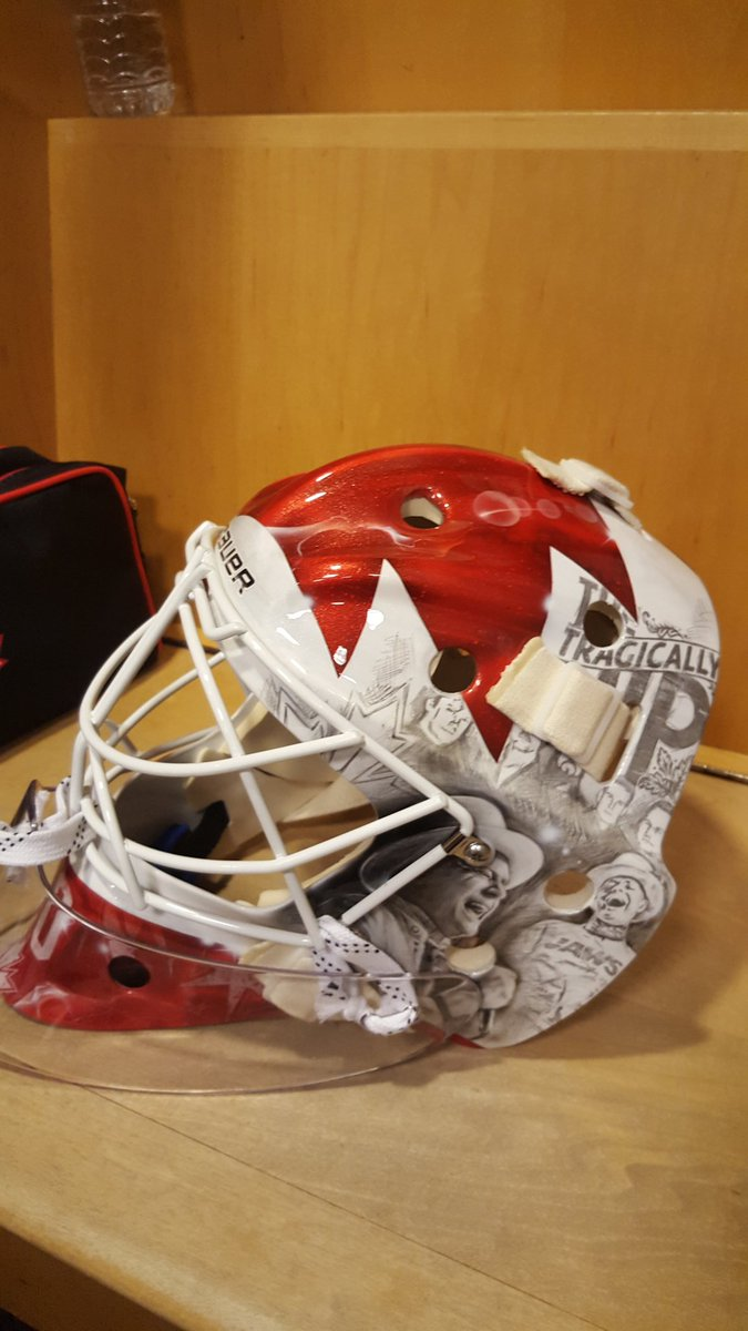 Braden Holtby pays tribute to Tragically Hip with World Cup mas…