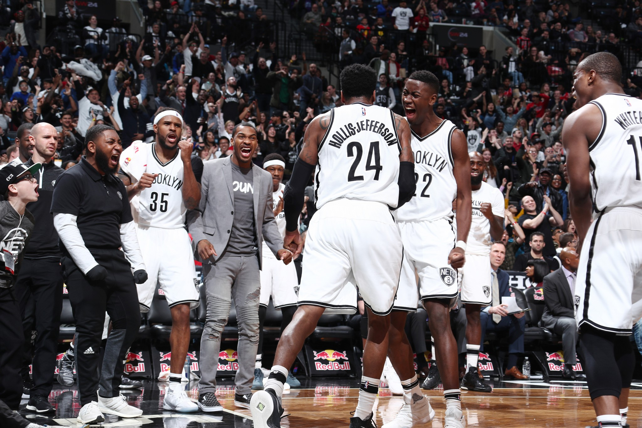 The Nets relished the opportunity to spoil things for the Bulls. (Getty Images)