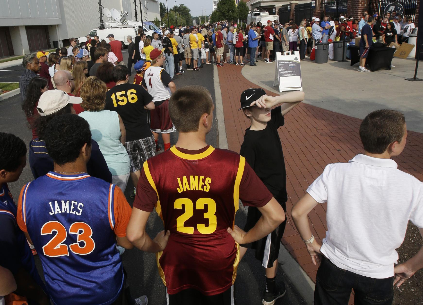 "LeBron James to Cavaliers fans at welcome rally: ""I'm not …"