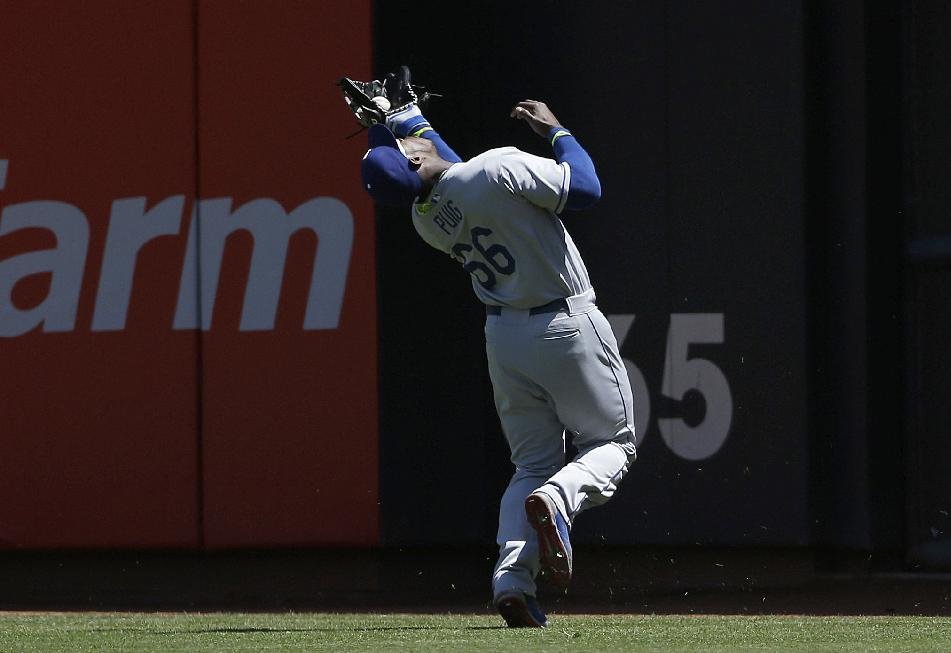 Yasiel Puig in a nutshell — he misses the easy catch, makes the…