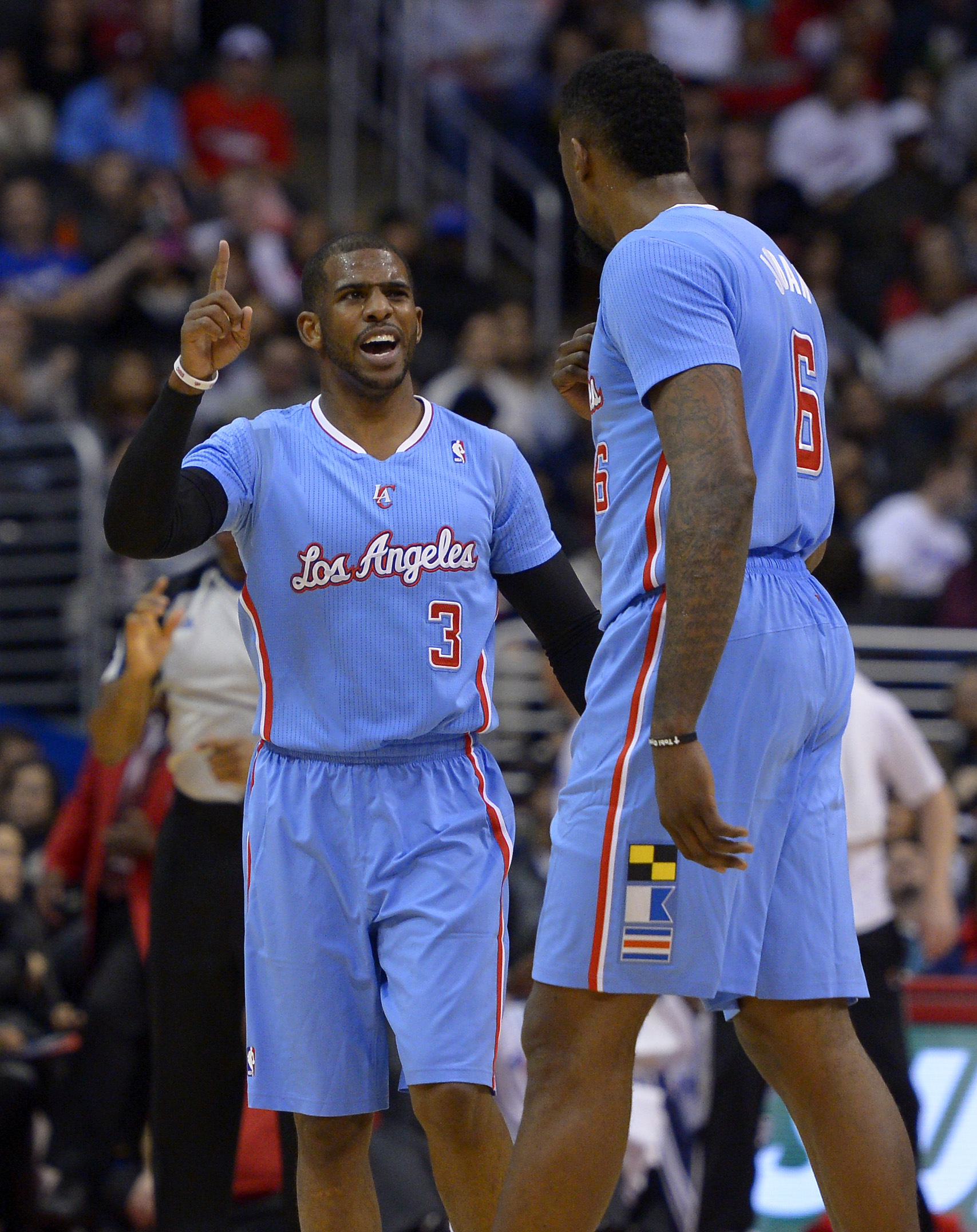 CP3 now has many more reasons to be upset at DeAndre Jordan. (AP Photo/Mark J. Terrill)