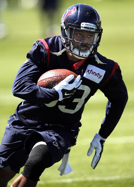 William Powell, during training camp this year when he was with the Texans (AP)