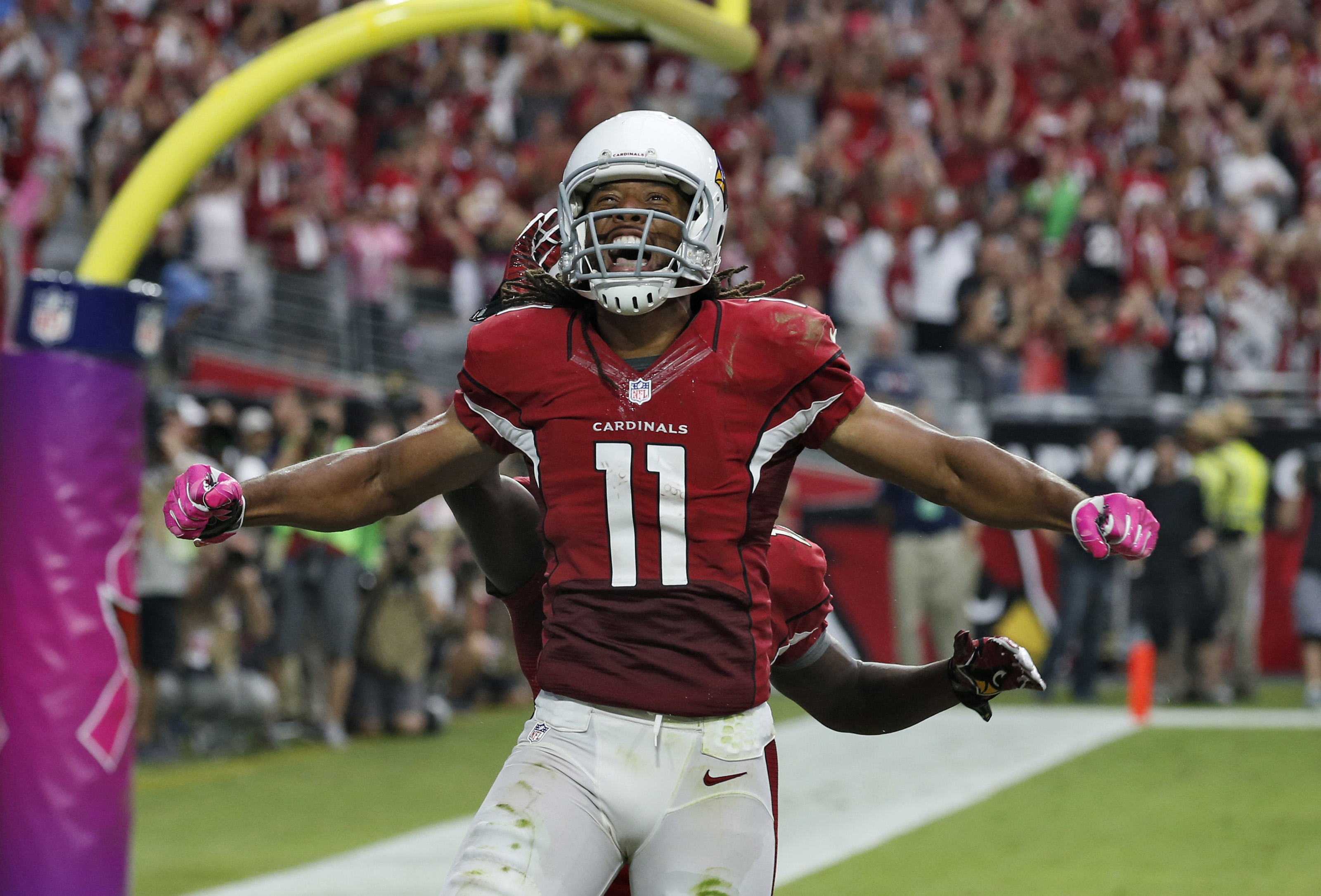 How many Fitzgerald spikes will we see? (AP/Ross D. Franklin)