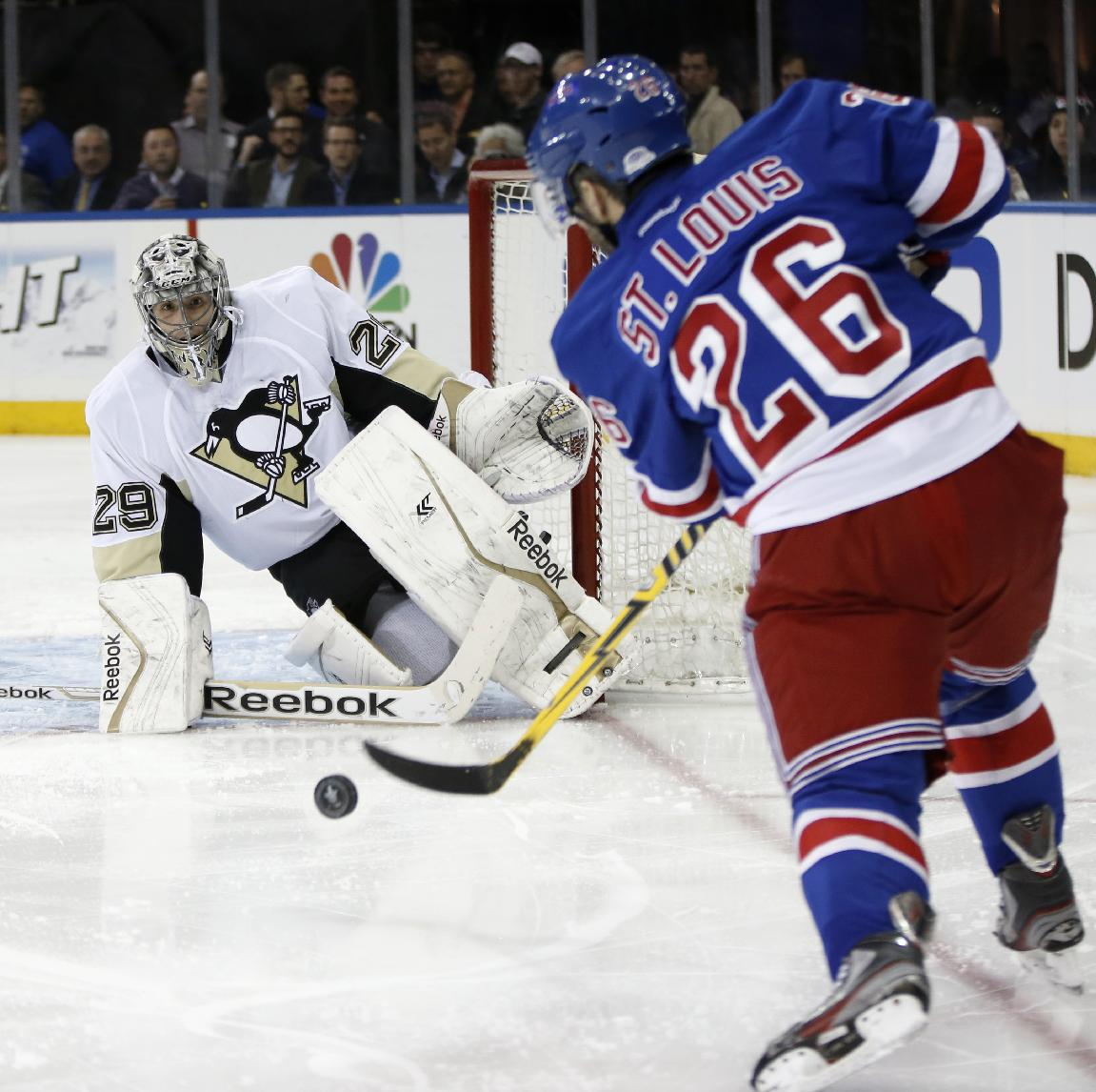 Marc-Andre Fleury shuts out Rangers in Game 3, Pens take 2-1 le…