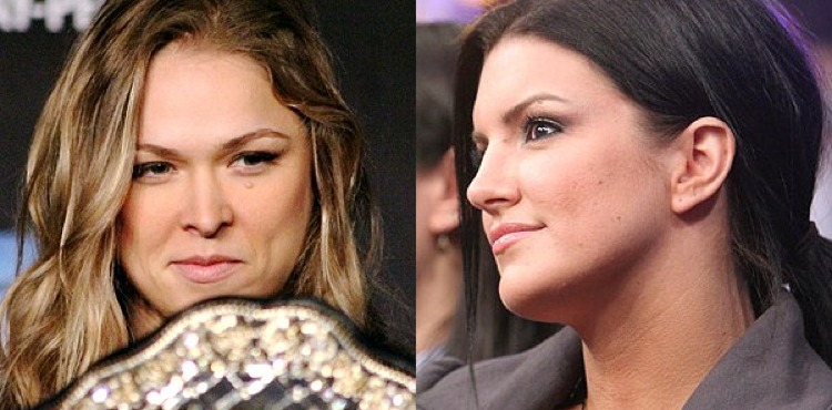 Don't hold your breath for a Ronda Rousey vs. Gina Carano UFC showdown. (Getty)