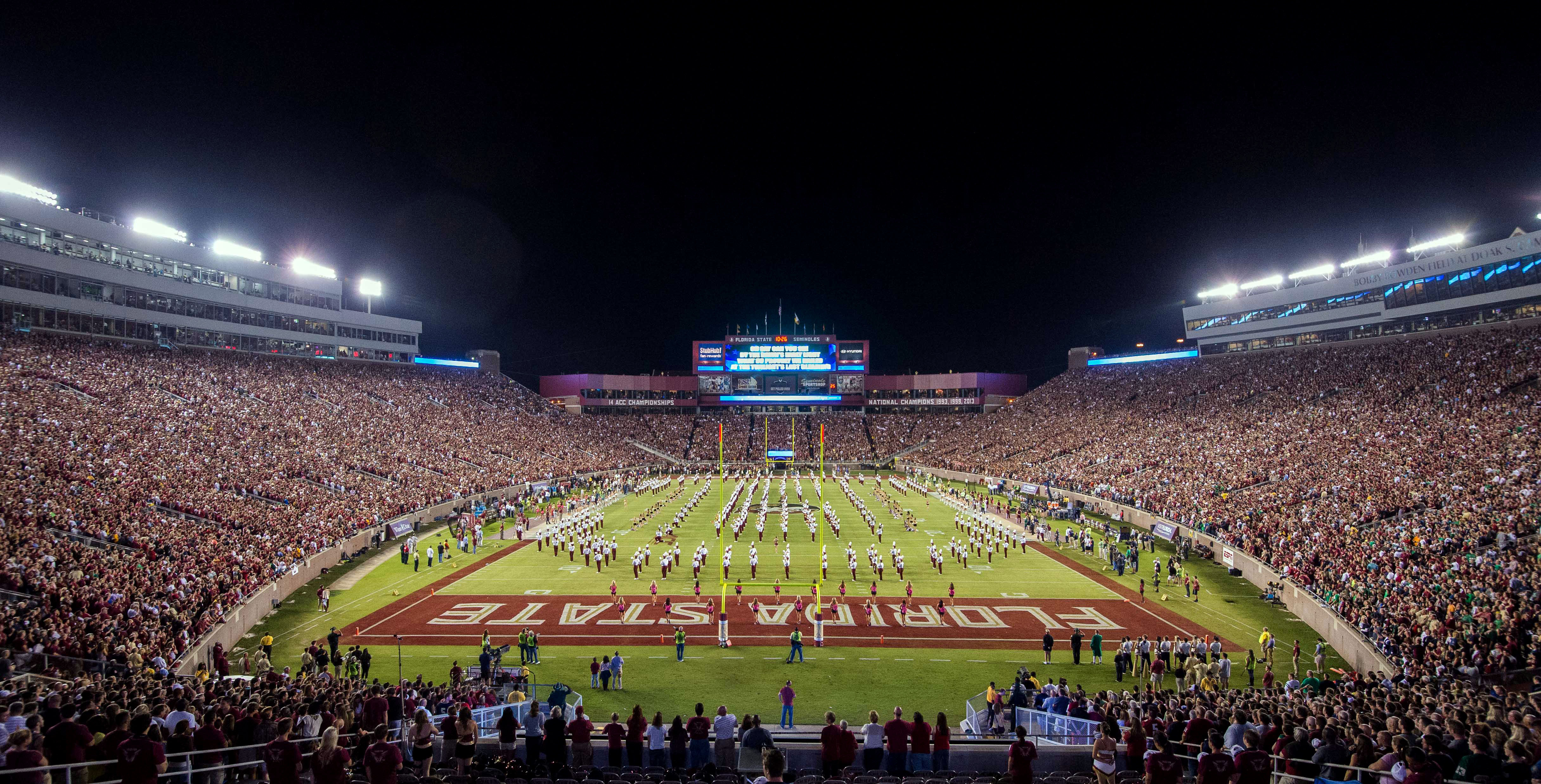 Oct 18, 2014; Tallahassee, FL, USA; A general view of Doak Campbell Stadium before the game between the Notre Dame Fighting Irish and the Florida State Seminoles. (Matt Cashore-USA TODAY Sports)