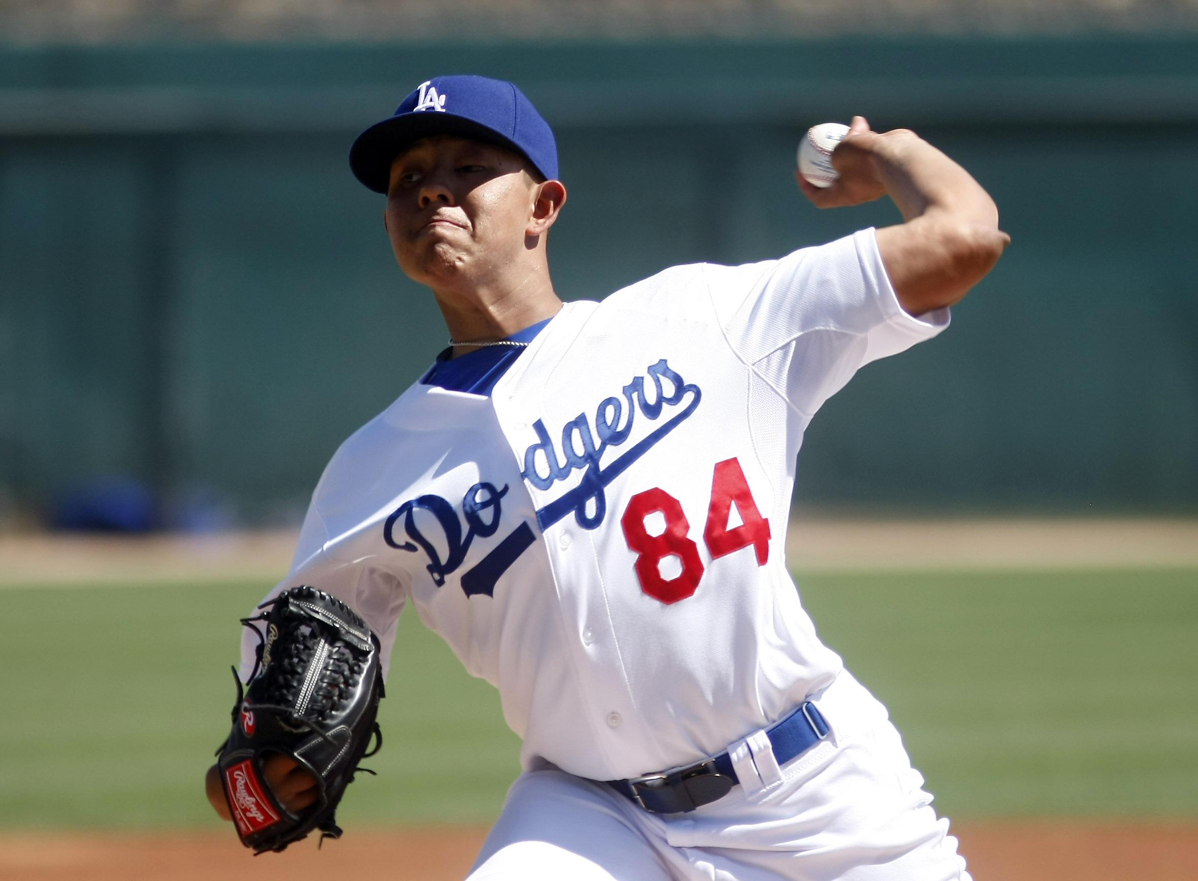 Los Angeles Dodgers pitcher Julio Urias. (USA TODAY Sports)