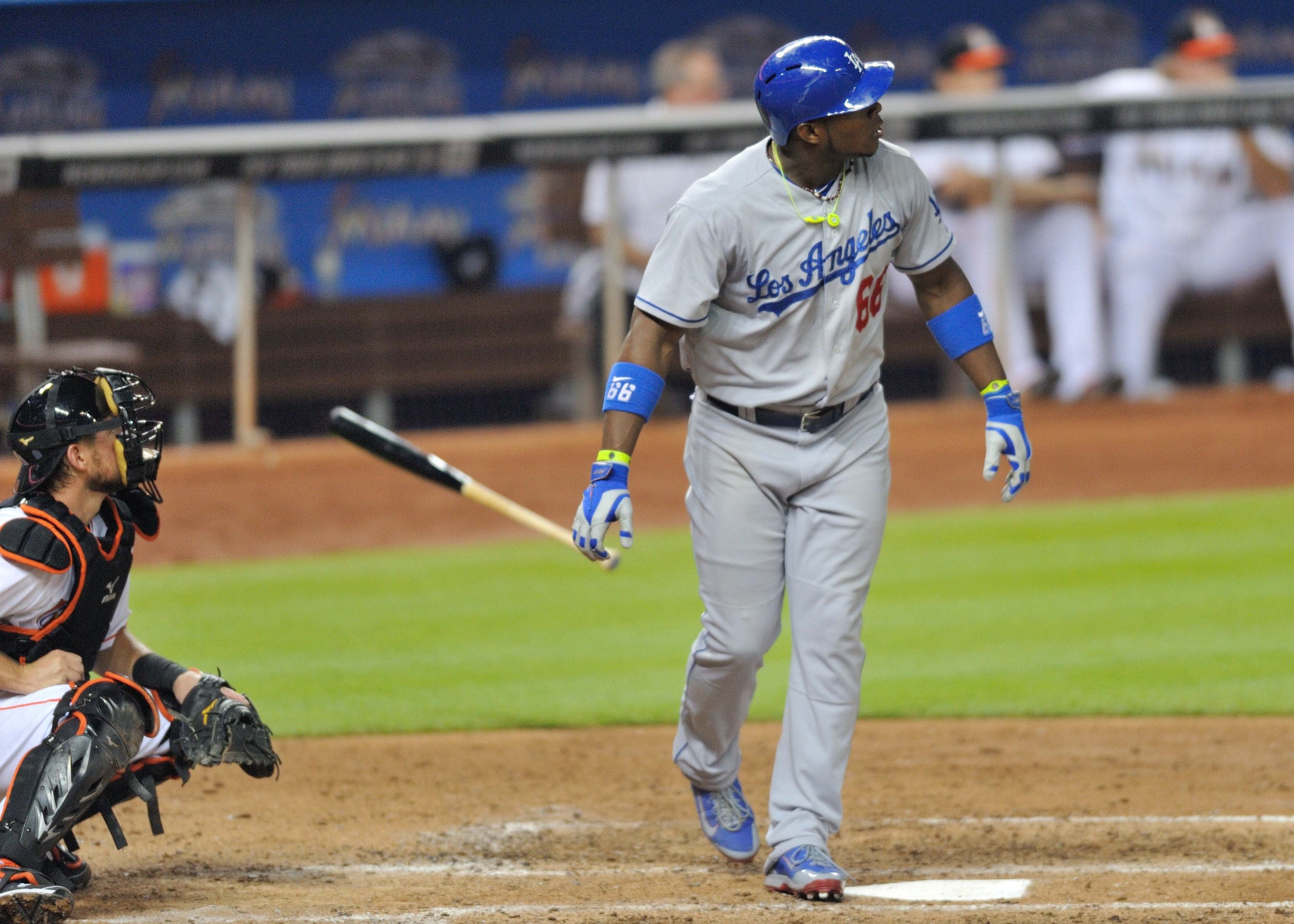 Yasiel Puig hits 452-foot home run, punctuates with extravagant…