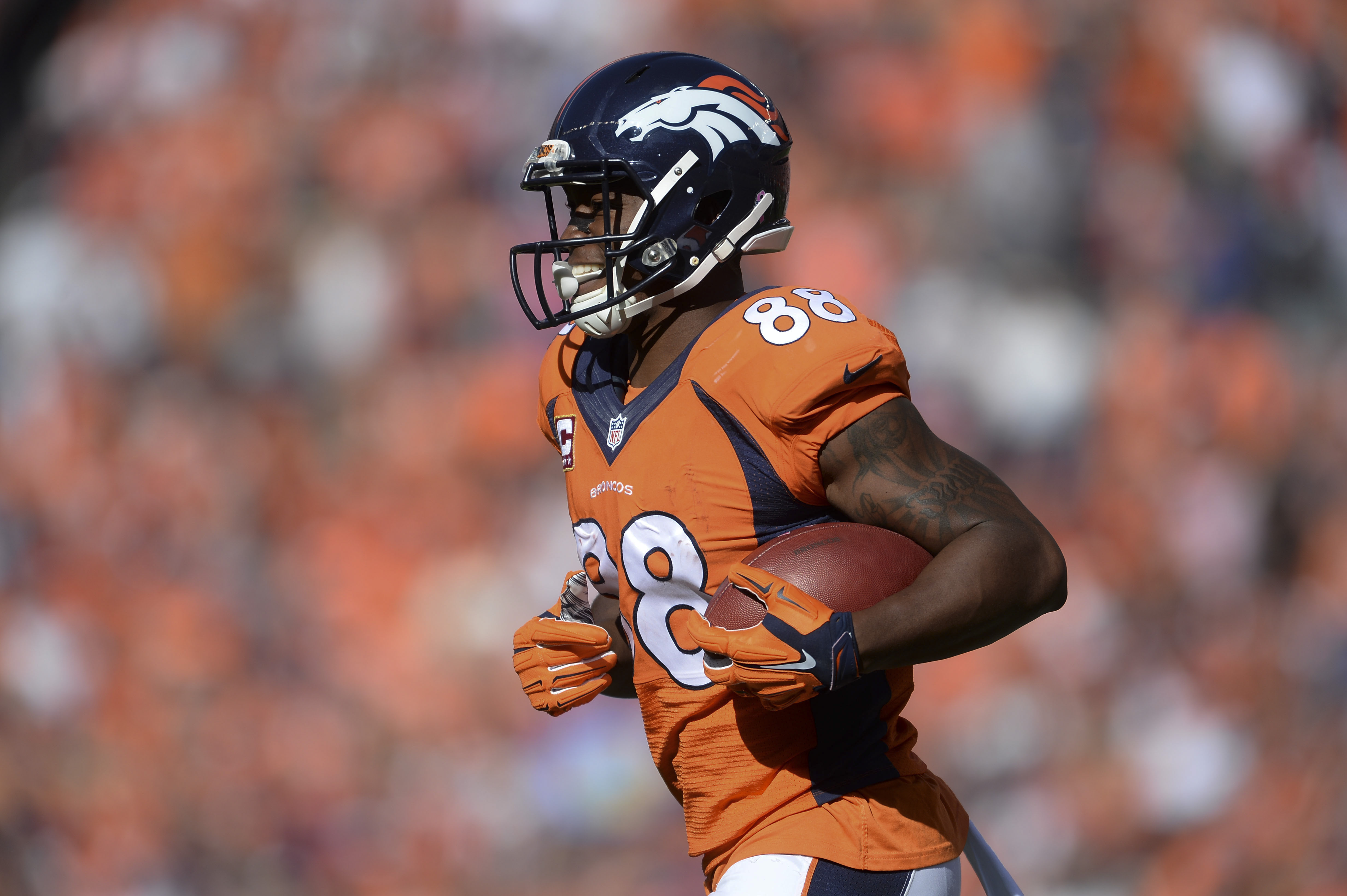 Demaryius Thomas was uncoverable last January (Ron Chenoy-USA TODAY Sports)